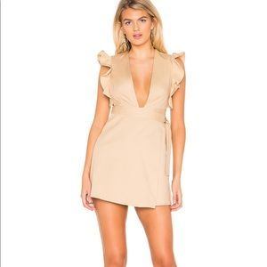 Khaki wrap dress